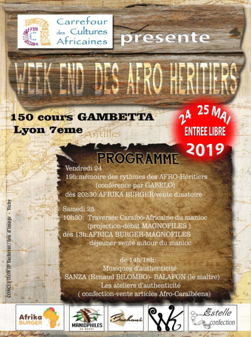 LE WEEKEND DES AFRO HERITIERS  24 – 25 mai 2019